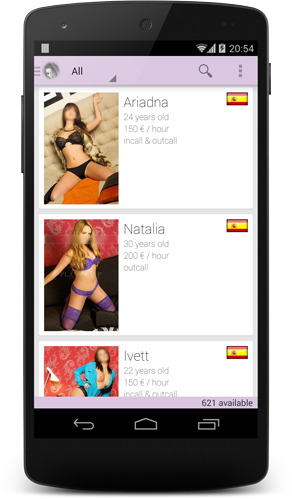 Escorts Highclass on Android